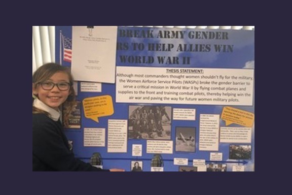The Nativity School Student Wins State at National History Day California Competition!